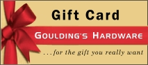 Get a Gift Card from Gouldings Hardware